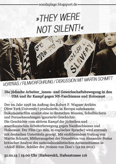 They were not silent - Vortrag und Filmvorführung am 31.01.2013